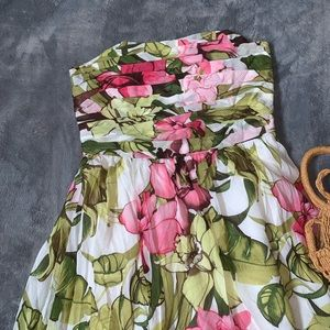 Tommy Bahama // Floral Strapless Dress with Tie